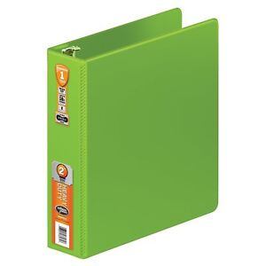 Wilson Jones Chartreuse 2 inch Heavy duty Round Ring Binder 8 pack With