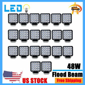 20x 48w 4inch Led Work Light Flood Beam Tractor Truck Trailer Driving Lamp