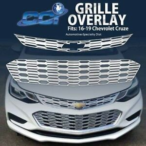 2pc Chrome Abs Grille Grill Overlay Gi 155 Fits 2016 2019 Chevy Cruze L Ls