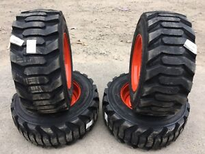 4 New 31 5x13 16 5 Skid Steer Tires wheels rims For Bobcat 12 16 5 Floatation