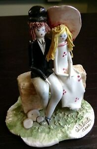 Young Love By W Cabrelli 5 Italian Bisque Porcelain Figurine