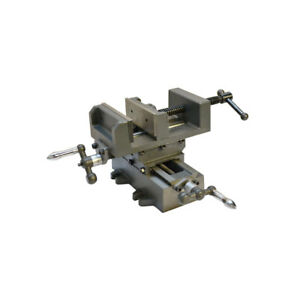 2 Way 4 Drill Press Cross Slide X y Compound Clamp Vise Metal Milling Vice