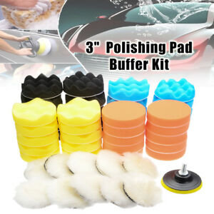 6 51x 3 Inch Buffing Pad Kit For Auto Car Wheel Polishing Carhand Buffer Set