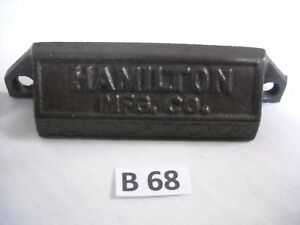 Antique Cast Iron Bin Drawer Pull 1880 S Hamilton Type Set Pull