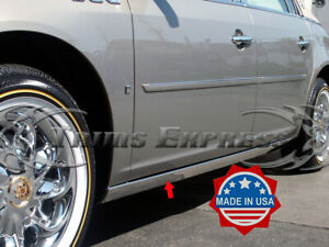 2006 2011 Cadillac Dts Chrome Rocker Panel Trim Extreme Lower Overlay 2pc 3