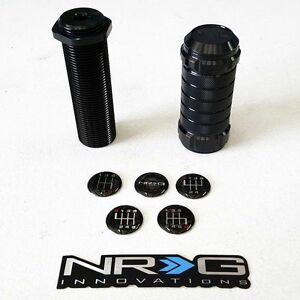 Nrg Stealth Style Height Adjustable Shift Knob With M10 X 1 25 Thread black