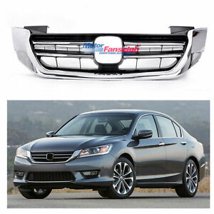 Radiator Grille Front Bumper Upper Chrome Grill For Honda Accord 2013 2014 2015