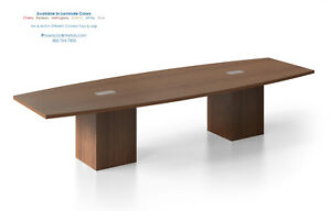 12 Foot Conference Table With Power Centers Square Cube Legs White And 5 Colors