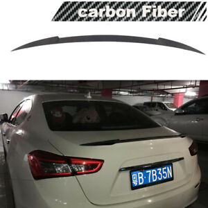 Fit For Maserati Ghibli 2014 2020 Rear Trunk Spoiler Boot Wing Lip Carbon Fiber