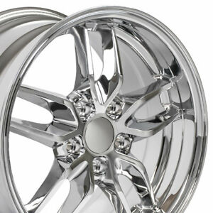 18x10 5 17x9 5 Wheels Fit Camaro Corvette Dd Stingray Chrome Rims W1x Set