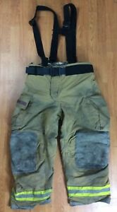 Globe Gxtreme Firefighter Bunker Turnout Pants W Suspenders 42 X 30 07