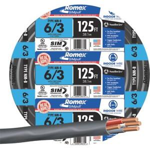 Southwire 125 6 3 Nmw g Wire 63950002