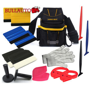 Vinyl Wrapping Tool Kits Micro Squeegee Gasket Tool Bag Window Tint Install Usa
