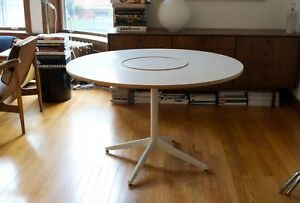 George Nelson For Herman Miller Lazy Susan Dining Table White Laminate