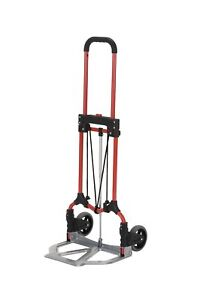 Magna Cart S rs Mci Personal Folding Steel Hand Truck Red silver