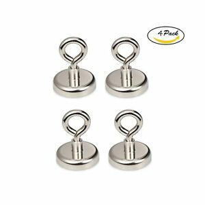 Be Magnet 148 Lb Strong Powerful Neodymium Magnetic Hooks With Eyebolt Diame