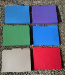 200 Smead universal One staples File Folder 1 3 cut Tab assorted Colors New