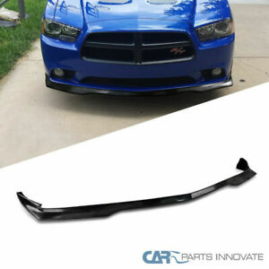 11 14 Dodge Charger Ra Style Replacement Black Pu Front Bumper Lip Spoiler Kit