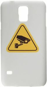 Cell Phone Cover Case For Samsung S5 With Video Surveillance Sign Cctv Camera
