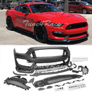 For 2015 2017 Ford Mustang Front Bumper Gt350 Style Retrofit Conversion Full Kit