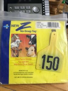Z Tag Cow Yellow Number 126 150