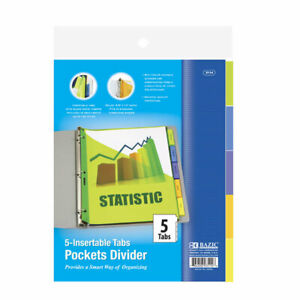 Bazic 3 ring Binder Pockets Dividers