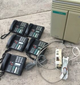 Norstar Meridian Key Telephone System 5 Phones Used