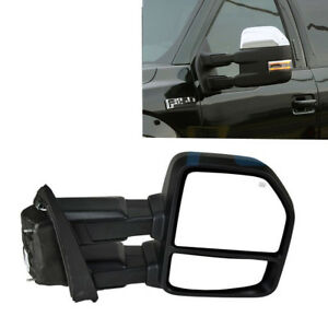 For 99 07 Ford F250 Super Dutytop Tow Mirror Power Heated Turn Signal Base Color