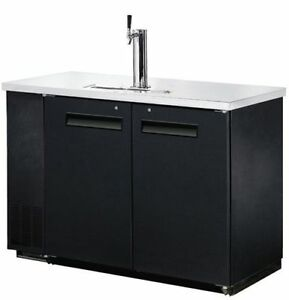 New 49 2 Keg Single Head Draft Beer Dispenser Direct Draw Cooler Free Shipping