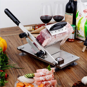 Stainless Steel Handheld Manual Frozen Meat Slicer Beef Slicing Cutting Machine