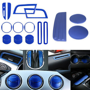 Aluminum Interior Accessory Decoration Trim Plate Panel Cover For Ford Mustang B
