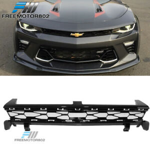 Fits 16 18 Camaro 50th Anniversary Front Upper Mesh Grille Unpainted Black