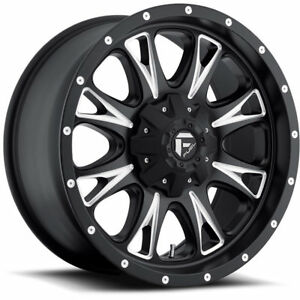 18x10 Black Fuel Throttle 8x6 5 24 Wheels Nitto Trail Grappler Lt285 65r18