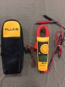 Fluke 902 True Rms hvac Clamp Meter W case Leads And Temp Probe