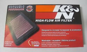 K n 33 5009 High Performance Replacement Air Filter Jeep Cherokee 2 0l 3 2l