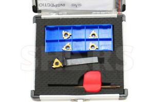 7 Pc 3 8 Indexable External Right Hand Threading Tool Holder Inserts Set New