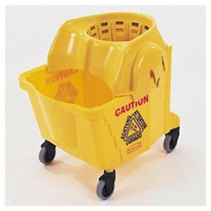 Rubbermaid Commercial Institutional 35qt Mop Bucket Strainer Combo Yellow