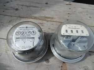 Vtg General Electric Westinghouse Watthour Watt Hour Meter Lamp Parts Steampunk