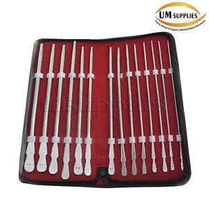 Dittel Urethral Sounds Set Of 14 Urology Instruments Stainless Steel New