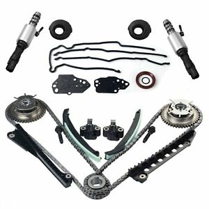 For 5 4 Ford F150 F250 Lincoln 3v Timing Chain Kit Cam Phaser Timing cover Seal