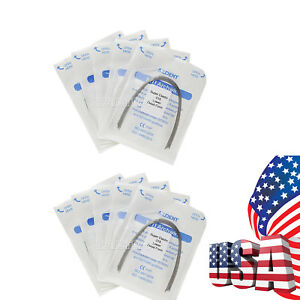 200 Packs Dental Orthodontic Niti Arch Wire Super Elastic Ovoid 018 Lower Round