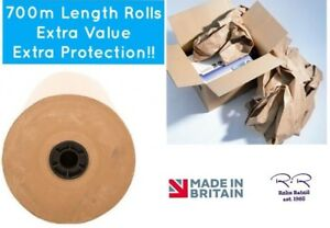 Brown Kraft Wrapping Paper Strong Packing Parcels Void Filler Strong 75gsm