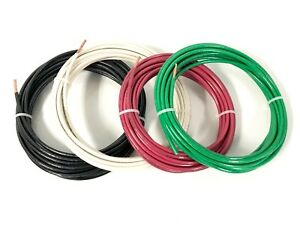 100 Feet Ea Thhn Thwn 2 8 Awg Gauge Red Black Green White Copper Building Wire
