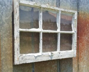 Antique Wood Window Picture Frame Pinterest Rustic Wall Decor Very Chippy 28x20