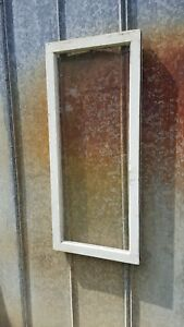 Architectural Salvage 39x17 Wood Window Sash Frame 1 Pane Picture Frame