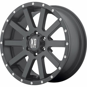 18x9 Black Xd Xd818 Heist 6x135 30 Rims Nitto Trail Grappler 285 65 18 Tires