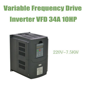 High Quality 10hp 34a 7 5kw 220v Vfd Variable Frequency Drive Inverter