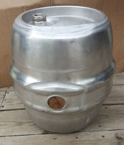 Schlitz Vintage Keg 7 75 Gallon Gas Fuel Tank Buggy Rat Rod Stainless Steel Pony