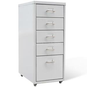 Metal Filing Cabinet With 5 Drawers Gray J6l4
