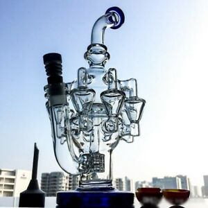 30cm Height Octopus Arms Recycler Glass Bong Water Pipes With Matrix Perc